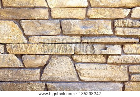 Ledge Stone Rock Decorative Wall Closeup