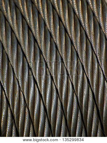 Hawser on the windlass roll, steel, texture