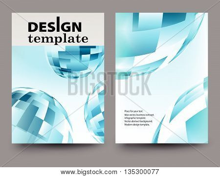 Brochure design template.Vector Brochure Flyer design Layout template size A4 Front page and back page.Abstract business brochure design. Report brochure flyer design template vector.