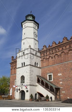 XIV century Town Hall on the market Sandomierz Poland