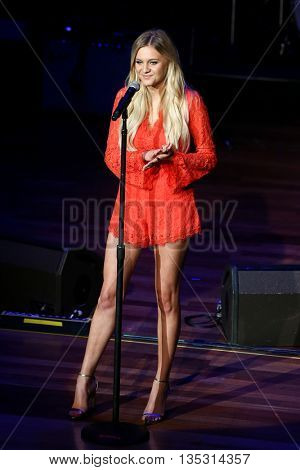 NASHVILLE, TN-SEP 1: Kelsea Ballerini onstage during the 9th Annual ACM Honors at the Ryman Auditorium on September 1, 2015 in Nashville, Tennessee.