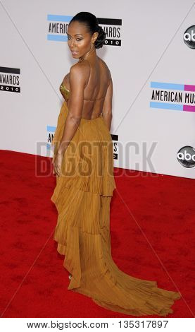 Jada Pinkett Smith at the 2010 American Music Awards held at the Nokia Theatre L.A. Live in Los Angeles, USA on November 21, 2010.