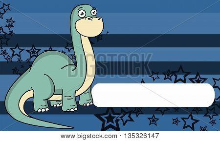 dinosaur brontosaurus expressions cartoon background in vector format