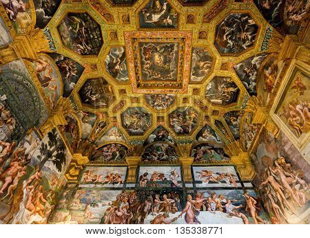 Ceiling Frescoes Of Palazzo Te In Mantua