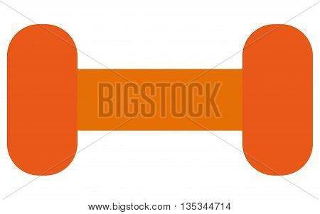 simple orange dumbell vector illustration flat style design