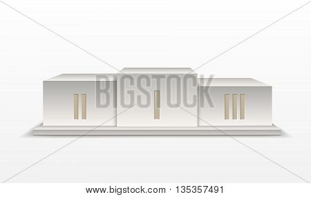 Podium winners isolated on white background. Vector illustration