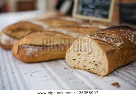 bread ready to eat. baked incredible image
