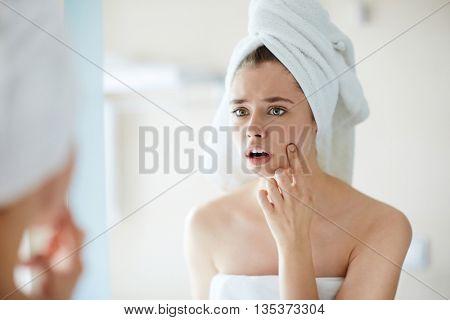 Pimple on cheek