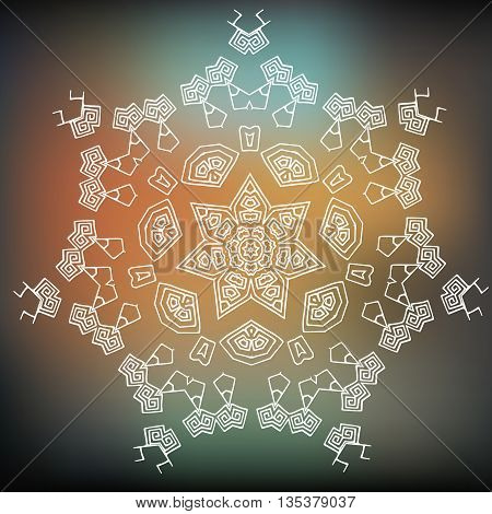 Vector Tribal element ethnic collection aztec stile tribal art. Aztec design icon logo