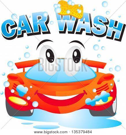 car wash design template logo drops water