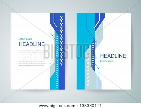 flyer brochure design template cover abstract lines and stripes