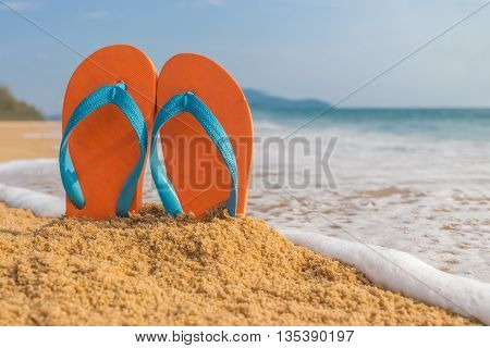 Flip-flop On The Beach