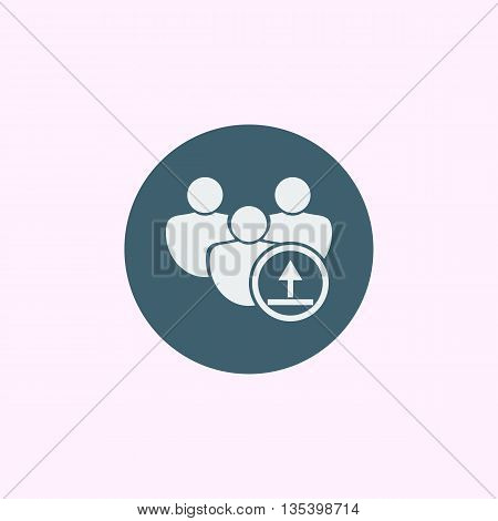 User Upload Icon In Vector Format. Premium Quality User Upload Symbol. Web Graphic User Upload Sign