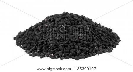 Black cumin isolated on white