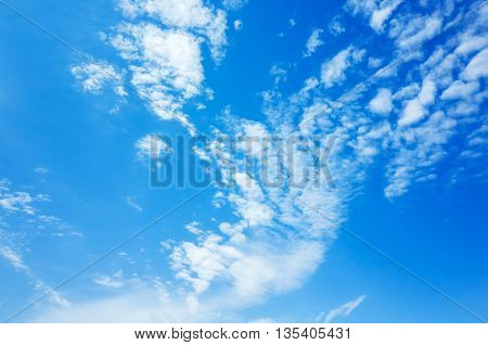 Blue Sky With White Clouds, Photo Background