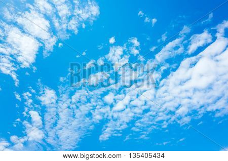 Natural Bright Blue Sky With White Clouds