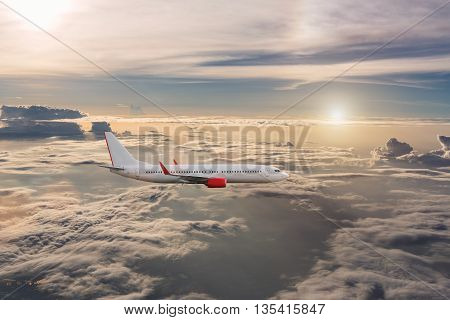 Airplane In The Cloudy Sky