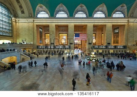 NEW YORK CITY - MARCH 27: New York Grand Central Station,  March 27 2014 in New York, USA