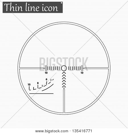 finder target iicon Vector Style Black thin line