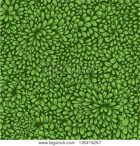 Hand-drawn seamless pattern with dense vegetation. Leaves. Can be used for desktop or frame for a posterfor pattern fills surface textures web page backgrounds textile and more.