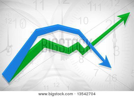 Clocks Busines Diagram Background