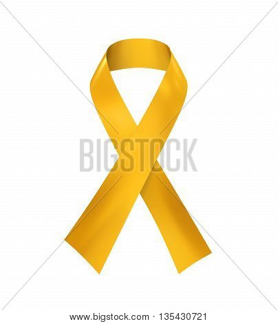 Childhood Cancer Awareness Ribbon isolated on white background. 3D render