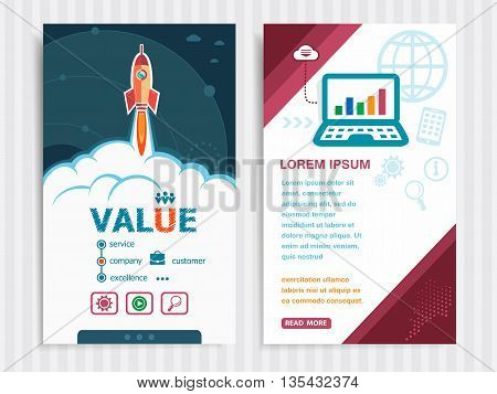 Project Value Template And Set Of Banners.