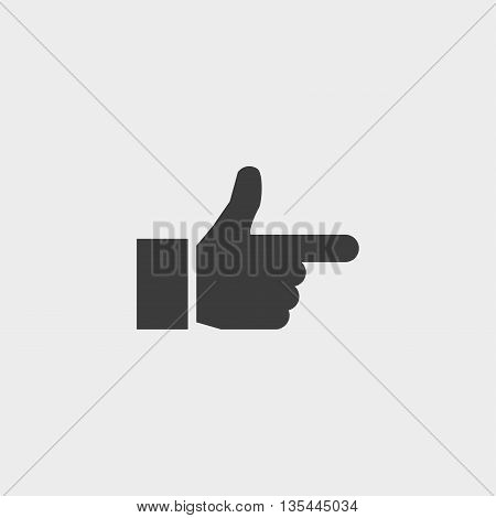 Forefinger icon Car Icon in a flat design in black color. Vector illustration eps10