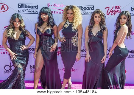 LAS VEGAS - MAY 22 : Singers Ally Brooke, Normani Hamilton, Dinah-Jane Hansen, Lauren Jauregui and Camila Cabello of Fifth Harmony attend the 2016 Billboard Music Awards on May 22, 2016 in Las Vegas