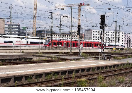 NURNBERG /GERMANY - JULY 17th 2014: photo of Nurnberg train station in Germany