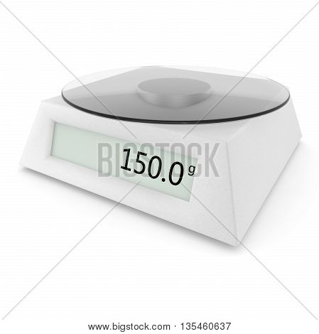 Digital Kitchen Scale Show 150 Grams
