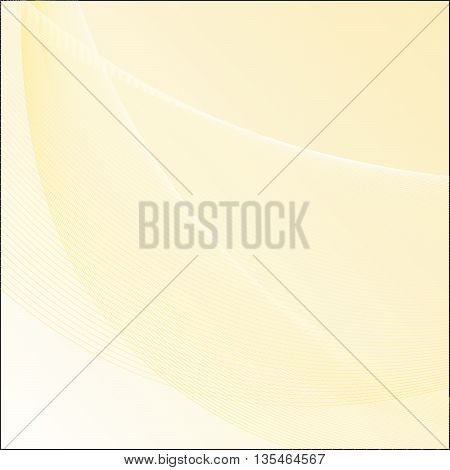 Vector Abstract curved lines background - A digitally created