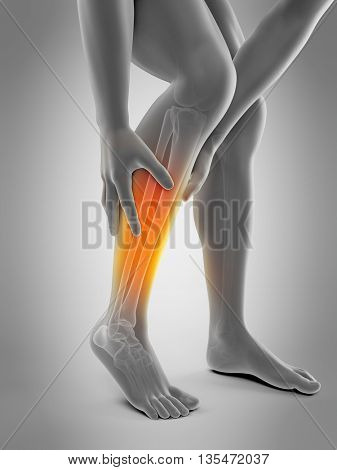 3d rendered, medically accurate 3d illustration of calf pain