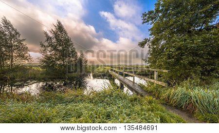 Inviting Footbridge  Crossing River