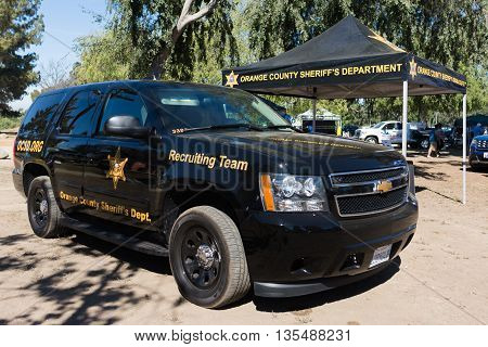 Orange County Sheriff During Vehicle Los Angeles American Heroes Air Show