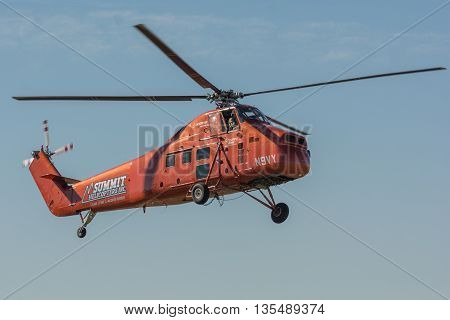 Sikorsky S-58Dt Helicopter During Los Angeles American Heroes Air Show