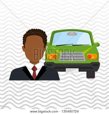 car salesman design, vector illustration eps10 graphic
