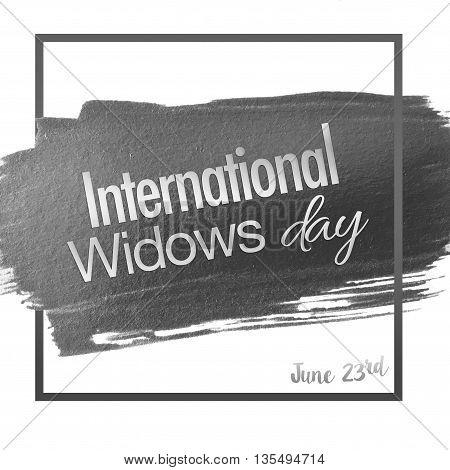 International widows day - on white background