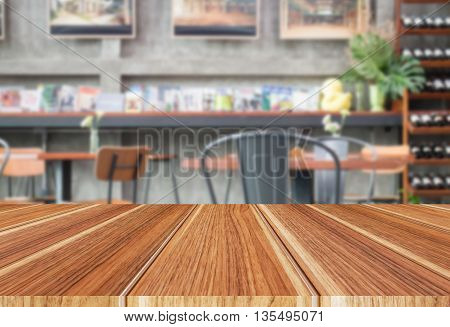 Abstract blurred restaurant interior for background stock photo