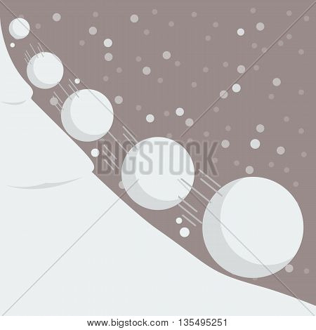 Snowball effect concept. Vector Illustration flat style