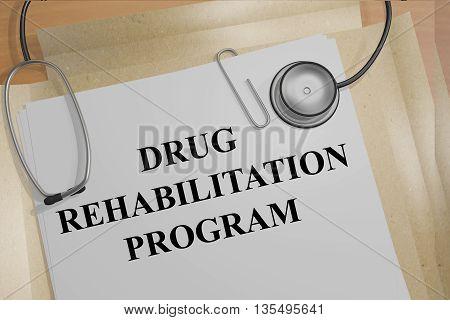 Drug Rehabilitation Program Medical Concept