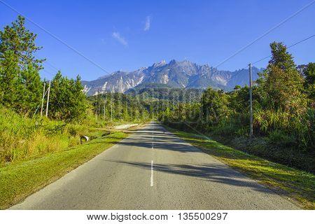Mount Kinabalu view from Desa Dairy Farm Kundasang