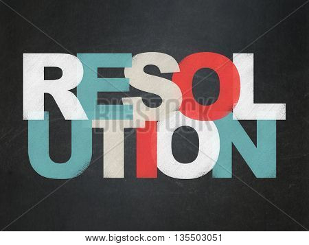 Law concept: Painted multicolor text Resolution on School board background, School Board