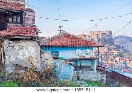 The slums and dilapidated housing in the city center is one of the main problems of Ankara Turkey.