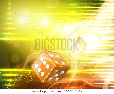 Hot casino dice game flying concept design