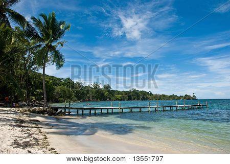 Wooden dock. Bocas de Toro, Panama.