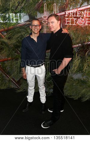 NEW YORK-JUNE 22: Robert Hammond (L) and Stuart Vevers attend the 2016 Coach And Friends Of The High Line Summer Party at The High Line on June 22, 2016 in New York City.