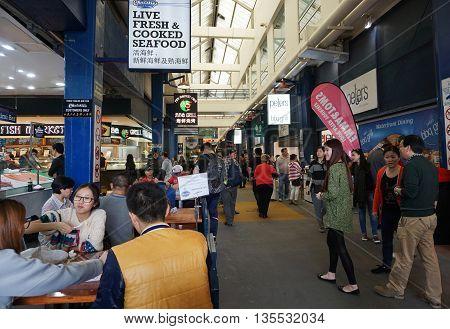 Tourists Visit Sydney Fish Market