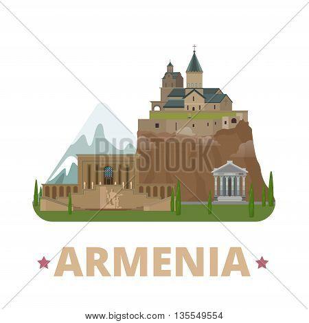 Armenia country design template Flat cartoon style web vector