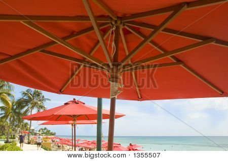 Red Umbrella Beach
